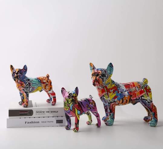 french bulldog statues